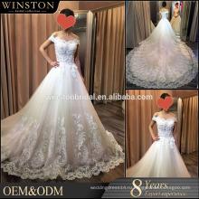 2016 мода высокое качество линии свадебное платье съемный