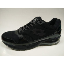 Men′s Black Air Bag Outsole Less Shock Running Shoes