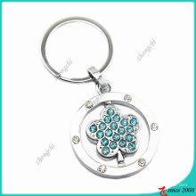 Porte-clés en métal de cristaux de mode d'alliage de zinc (KC)