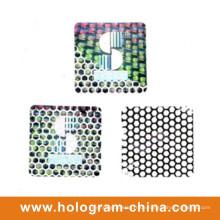 Silberne Aluminiumprägefolie Tamper Proof Honeycomb