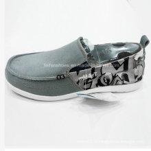 Обувь новый стиль Мужская мода скольжения на холст обувь