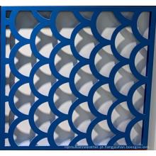 Folha perfurada de alumínio dobrável de 2,5 mm-4 mm perfurada
