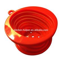 China fabricante profissional fabricante Resistência ao calor dobrável estilo do Vietnã Silicone café Dripper / filtro de café de silicone