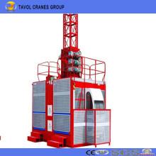 Polipasto de construcción Polipasto de pasajero de jaula doble de 2 toneladas (SC200 / 200)