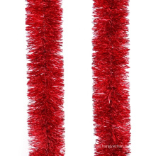 Red Color 8cm/5ly*200cm PET tinsel Garland For Christmas Indoor Decoration