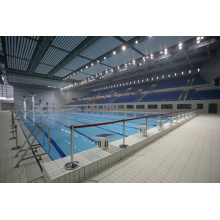 Couverture moderne de piscine de toiture de cadre d'espace en acier