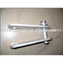 lignes aériennes accessoires à chaud en acier galvanisé chape ajuster yoke plaque ligne d'alimentation matériel raccord pièces métalliques pressées