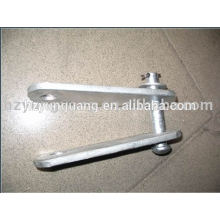 overhead lines accessories hot-dip galvanized steel clevis adjust yoke plate power line hardware fitting pressed metal parts