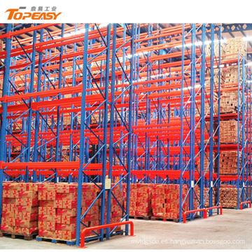 almacenamiento en almacén de alta resistencia sistemas de estantería de doble profundidad
