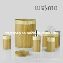 Accessoires de salle de bain en bambou à deux tons (WBB0326A)