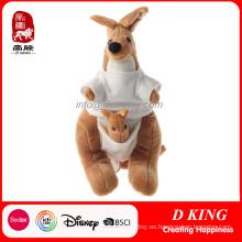 Animales de peluche de peluche lindo canguro personalizado para niños