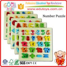 Nombres classiques de 1 à 20 Puzzle Board, Kids Playschool Raised Wooden Puzzle Board