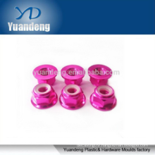High quality M4 anodized flange nylon insert lock nuts