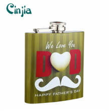 Stainless Steel Portable Mustache Design Hip Flask for Gift