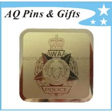 Clip de dinero personalizado de metal de oro en chapado en oro (Golf-06)