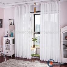 Elegante branco voile tecido de linho hotel cortinas e cortinas