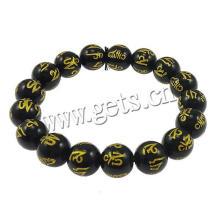 Gets.com schwarzes Achat Sandelholz buddhistisches Armband