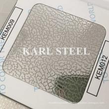 201 Edelstahl Kem012 geprägtes Blatt für Dekorationsmaterialien