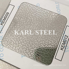 201 Stainless Steel Kem012 Embossed Sheet for Decoration Materials