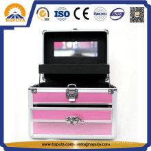 Belle boîte à bijoux avec tiroirs et miroir de maquillage