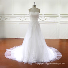 Real Sample of Detachable Skirt Brides Dress