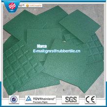 Gym Flooring Mat Rubber Factory Direct Indoor Rubber Tile Rubber Floor Tile