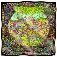 2014 de invierno de la marca de diseñador de lana bufanda sarga 110x110cm