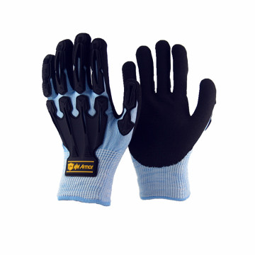 NMSAFETY black nitrile coated protective gloves