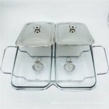 Cheap Glass Chafing Pot/Silver Plated Chafing Dish