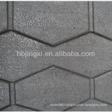 Turtle shell pattern livestock rubber mat