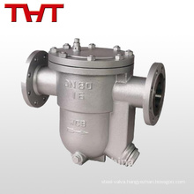 Industrial manual thermostatic condensate stainless steel steam trap