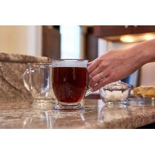 16OZ clear glass mug glass drinking mug for tea or coffee