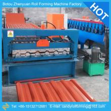 Máquina de formação de chapas de aço galvanizado, máquina de formação de rolos de camada única, máquina de folha de telhado
