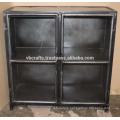 Industrial Vintage Metal Cabinet Glass Cabinet