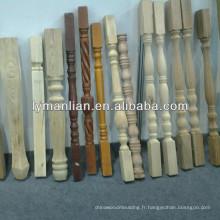poteau en bois massif / colonne en bois / bluster de bois
