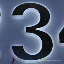 Letras del alfabeto LED de plástico de alta calidad