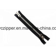 5# Light Gold Brass Metal Zipper with Two Slider for Handbags