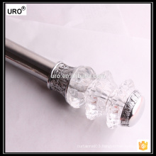 home decoration 28mm plating plastic curtain rods