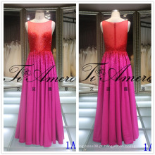 Novo Bling Bling Bling Maxi Prom Dress Handmade Beading Evening Wedding Dress Red Hot Drilling Lady Gown Tiamero 1A1170