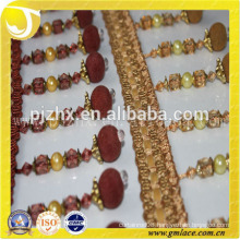 high quality ribbon beaded fringe trims of textile accessories in stock