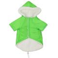 Plush hooded pet soft warm double pockets cotton-padded vest pet supplies