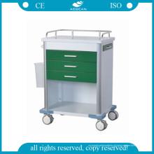 Trole da medicação do verde escuro do hospital AG-GS005