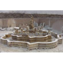 Fonte exterior da associação de mármore para a pedra do jardim (SY-F056)