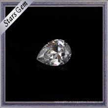 2X3mm tamanho pequeno Pear Cut Synthetic Cubic Zirconia Gemstone