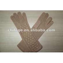 Mesdames hiver tricoté long mitaines de gants en cachemire