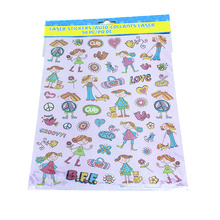 Little Girl Lovely Sticker Diary Decoration Stickers Transparent PVC Stickers Decal