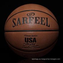 2017 baloncesto de cuero promocional de oficina al por mayor de baloncesto de oficina de YONO personalizado baloncesto
