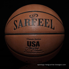 2017 YONO office promotional leather basketball wholesale basketball custom basketball