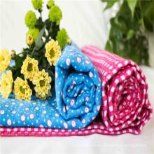 Tela de algodón con franela para ropa de bebé, manta