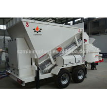 Mini Mobile Concrete plants cement sand and stone mixing plant